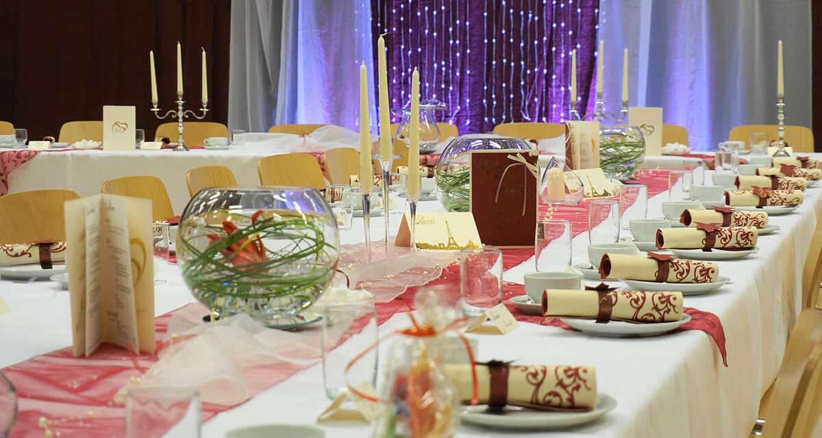 Uspořádání stolů na svatbě, jak najít to pravé?